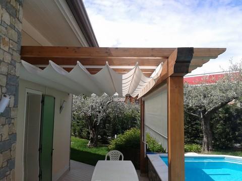 Tende per gazebo in legno terminali antivento per stufe - Pergola da giardino ...
